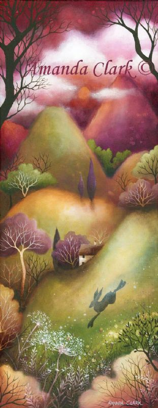 Landscape art, 'Sweet Meadows' by Amanda Clark.