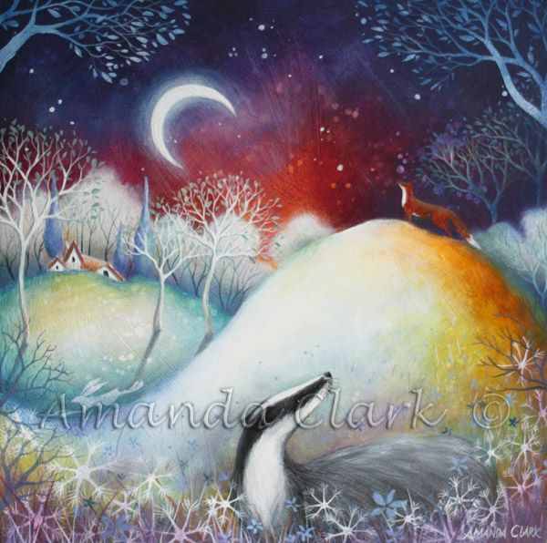 Original painting and art prints of 'The Watcher by Amanda Clark