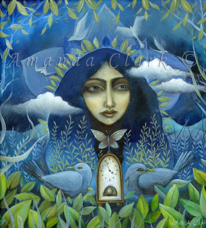 Alice and the Passing Clouds. An original oil painting by Amanda Clark