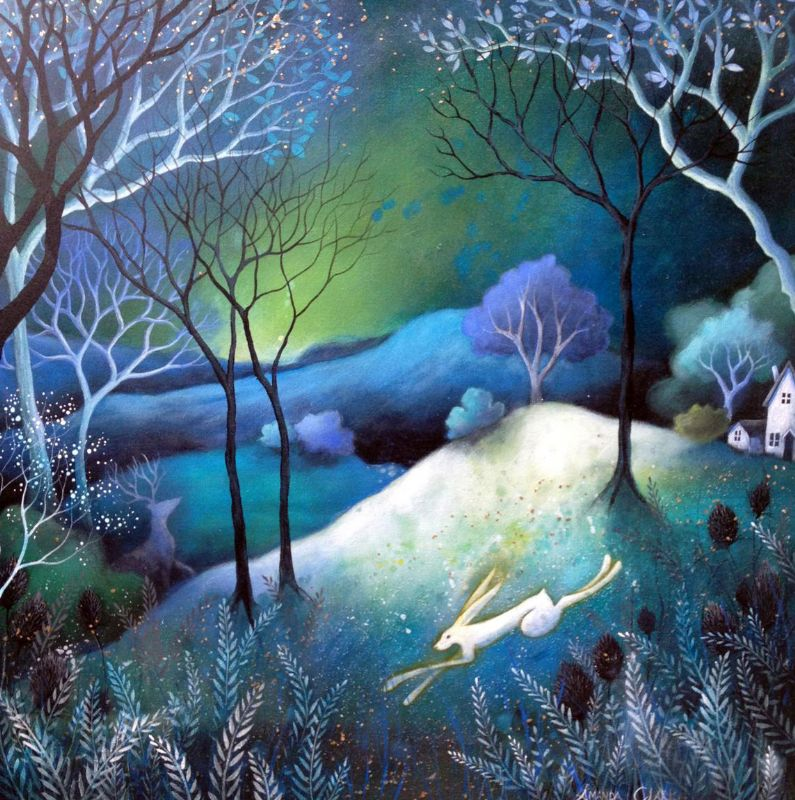 Original painting titled 'Dusk' by Amanda Clark.