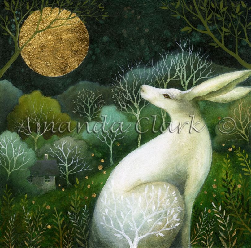 Limited edition art prints, hand embellished by the artist and illustrator, Amanda Clark.