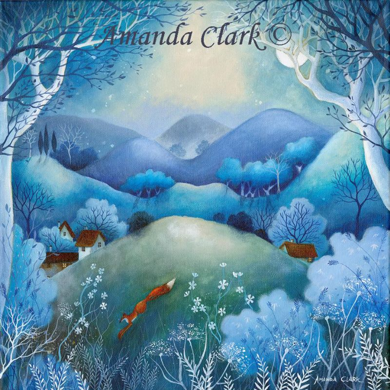 Midnight Meadows. A new original painting by Amanda Clark 2017.