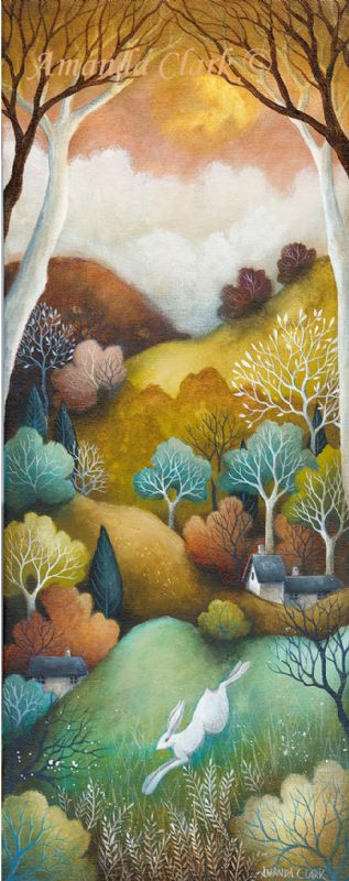 A new painting titled 'Running Home' by Amanda Clark.