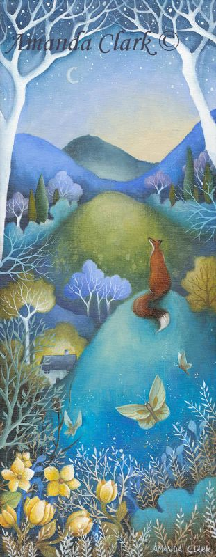 The Fading Moon.  A new original painting by Amanda Clark.