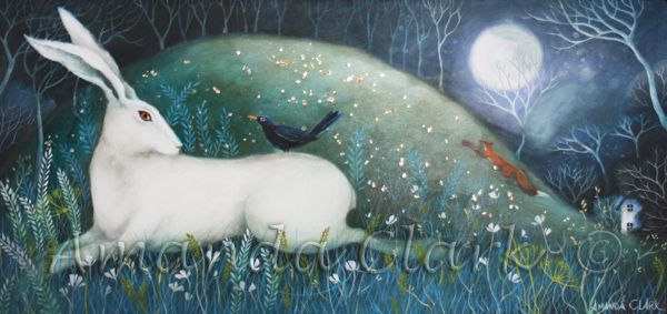 The Hare, The Blackbird and The Fox - Amanda Clark Artist