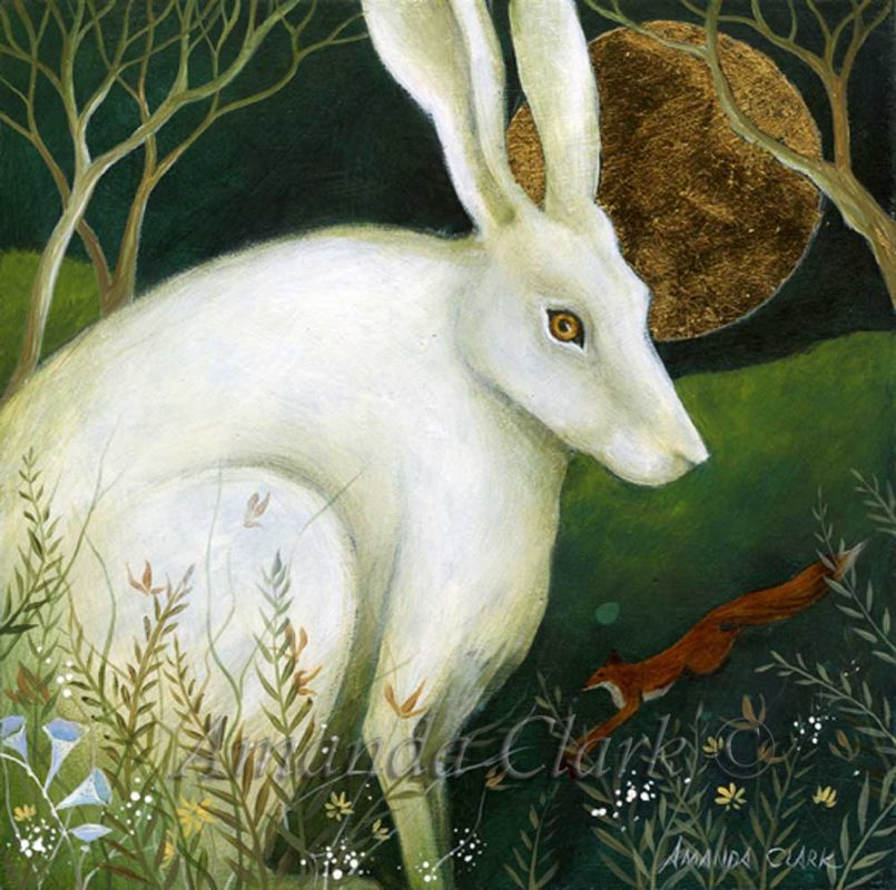 The White Hare and The Fox - Amanda Clark Artist