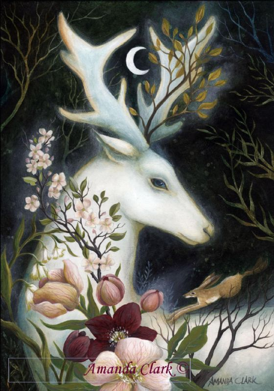 The White Hare and Stag - Amanda Clark Artist