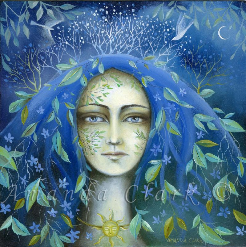 Tree Maiden. A new painting by Amanda Clark.