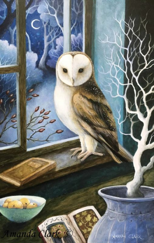 Visitor at my Window - Amanda Clark Artist